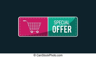Special offer sales with cart HD animation