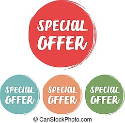 Special Offer. Set of grunge style on a white background