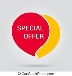 Special offer shop now vector illustration on a gray background