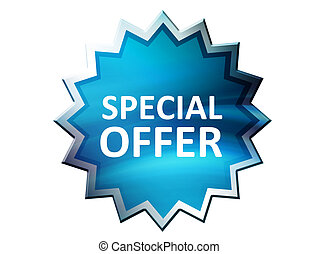 Special Offer - Special offer on blue label over white...