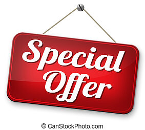 special offer - special opromotion offer exclusive bargain...
