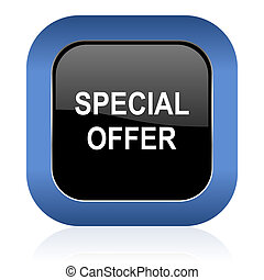 special offer square glossy icon