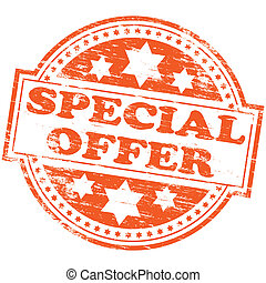"Special Offer Stamp - Rubber stamp illustration showing ""..."
