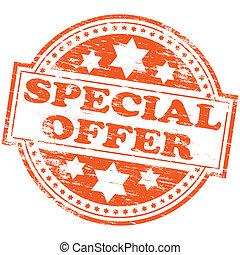 """Special Offer Stamp - Rubber stamp illustration showing """"..."""