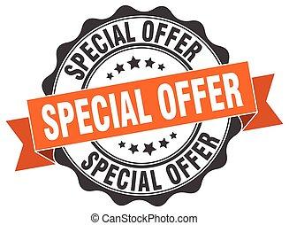 special offer stamp. sign. seal