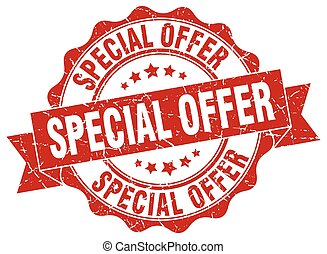 special offer stamp. sign. seal