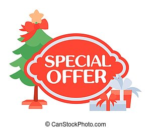 Special Offer Sticker For Christmas Sale