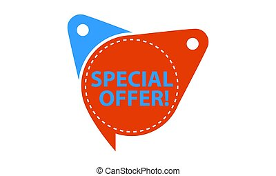 Special Offer Tag Template Isolated