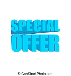 Special Offer template. lettering symbol business design