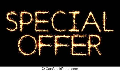 Special Offer Text Sparkler Glitter Sparks Firework Loop...
