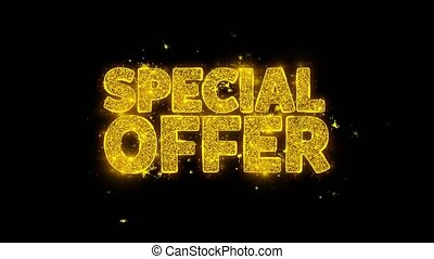 Special Offer Typography Written with Golden Particles...
