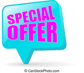Special offer vector icon