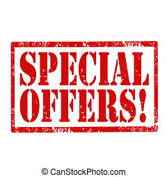 Special Offers-stamp - Grunge rubber stamp with text Special...