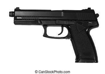 special operation handgun on white background