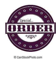 Rubber stamps with text special order inside, vector illustration