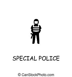 Special police flat vector icon
