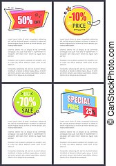 Special Price 25 and -10 Off Vector Illustration