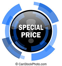 special price black blue glossy web icon