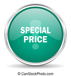 special price blue glossy circle web icon