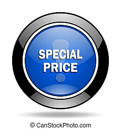 special price blue glossy icon