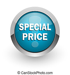 special price blue glossy web icon