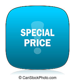 special price blue icon