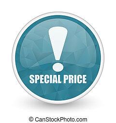 Special price brillant crystal design round blue web icon.