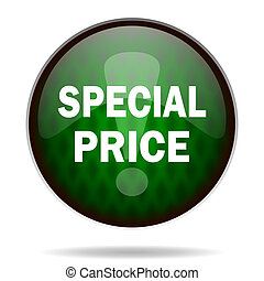 special price green internet icon