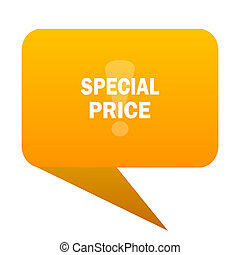 special price orange bulb web icon isolated.