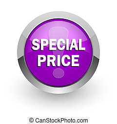 special price pink glossy web icon