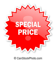 special price red tag, sticker, label, star, stamp, banner, advertising, badge, emblem, web icon