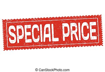 Special price sign or stamp