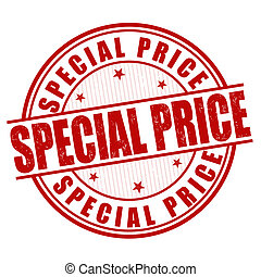 Special price stamp - Special price grunge rubber stamp on...