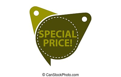 Special Price Tag Template Isolated