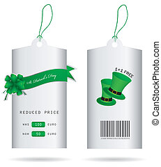 special price tags for St. Patrick'