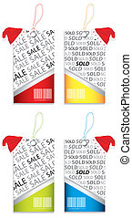 special price tags with Christmas design