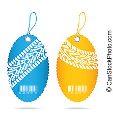 special price tags with tire design