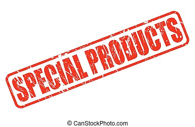 Special products red stamp text