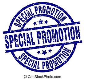 special promotion blue round grunge stamp