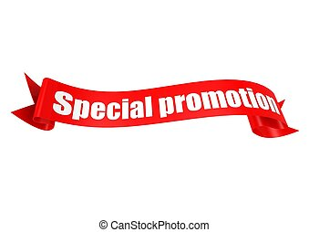 Special promotion ribbon