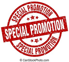 special promotion round red grunge stamp