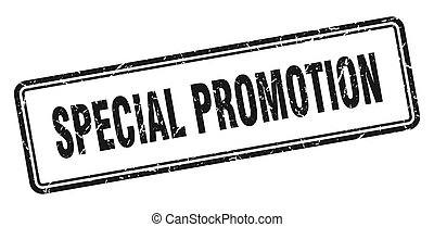 special promotion stamp. square grunge sign on white background