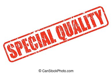 Special quality red stamp text