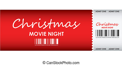 special red ticket for Christmas movie night