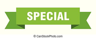 special ribbon. special isolated sign. special banner