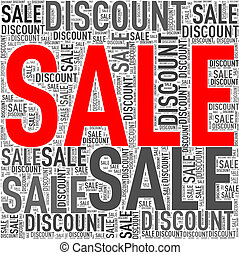 Special sale discount wordcloud tag