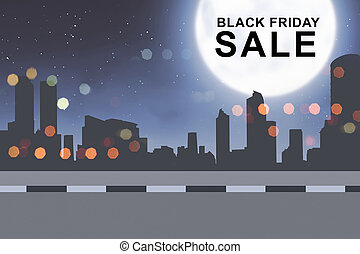 Special sale on Black Friday on the city