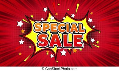 Special Sale Text Pop Art Style Comic Expression. - Special...