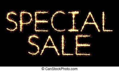 Special Sale Text Sparkler Glitter Sparks Firework Loop...