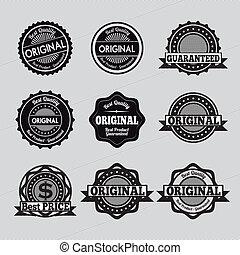 special seals - specials seals over gray background vector...
